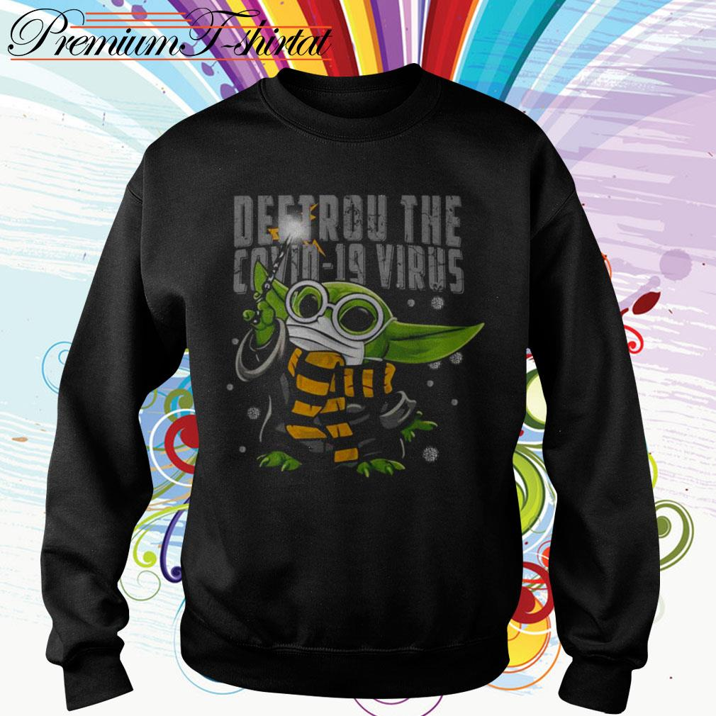 Baby Yoda Destroy the Covid-19 Virus Corona Sweater
