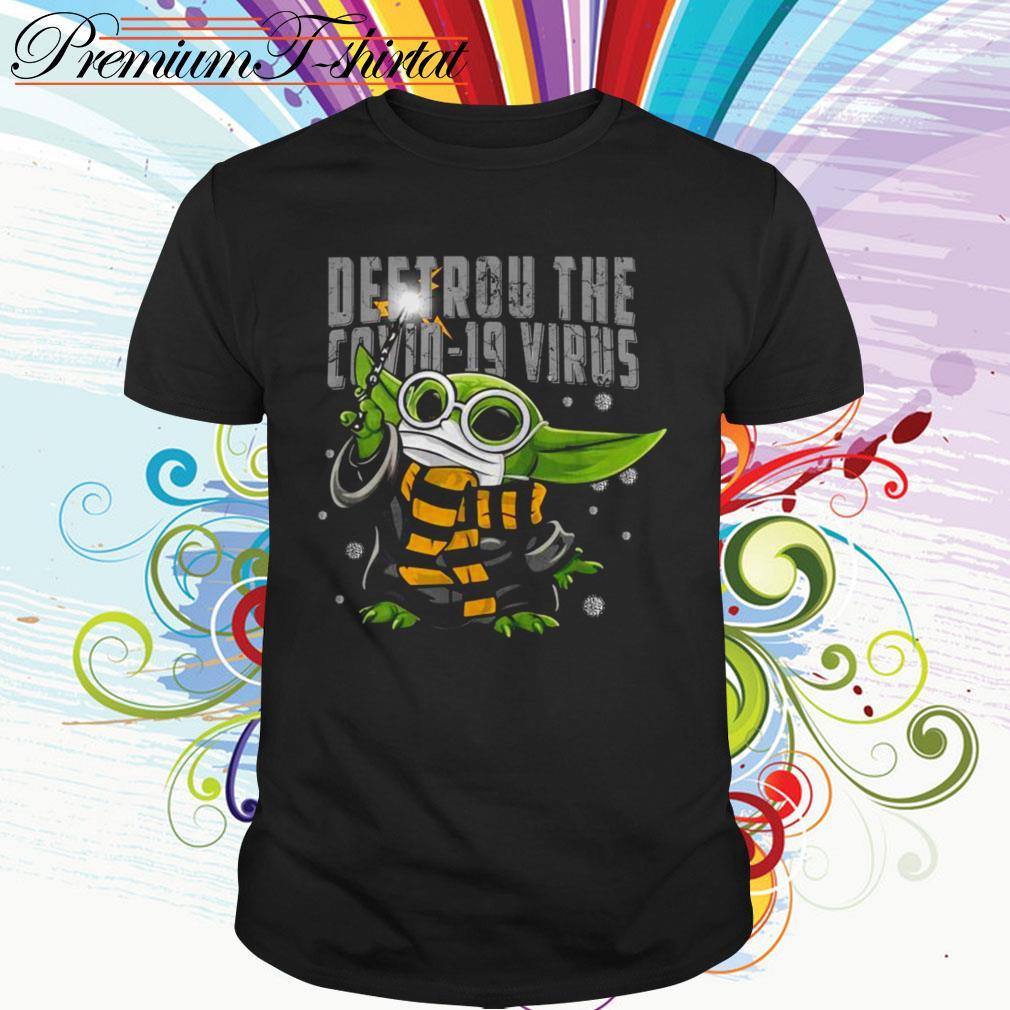 Baby Yoda Destroy the Covid-19 Virus Corona shirt
