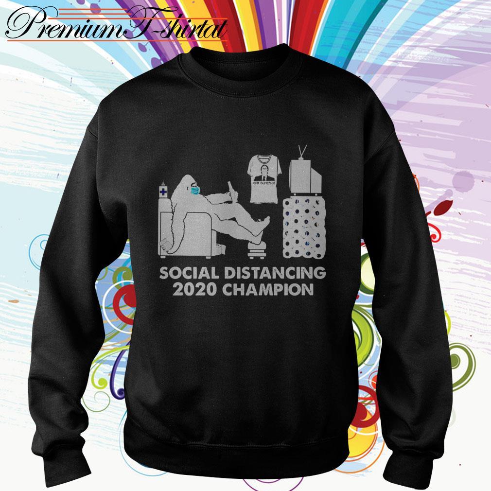 Bigfoot social distancing 2020 champion Sweater