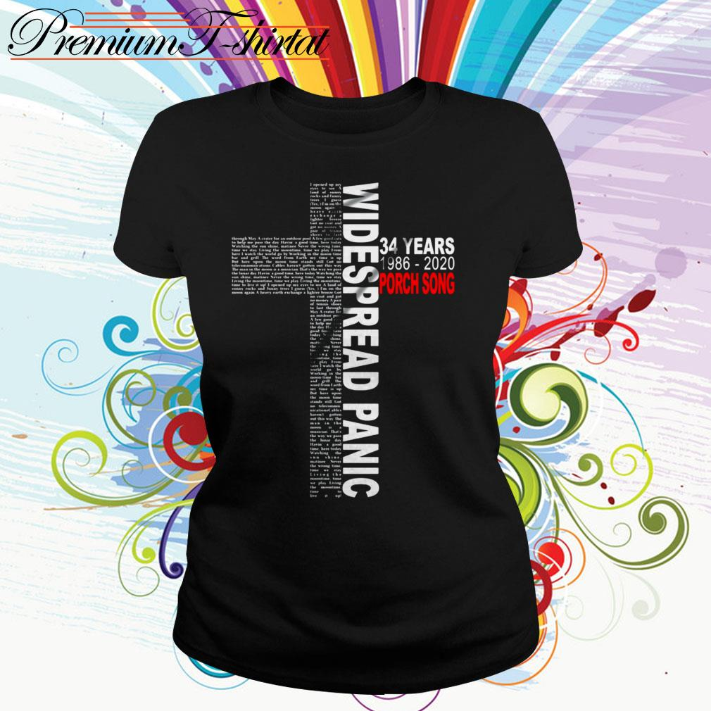 Cross Widespread Panic 34 years 1986-2020 Porch Song Ladies Tee