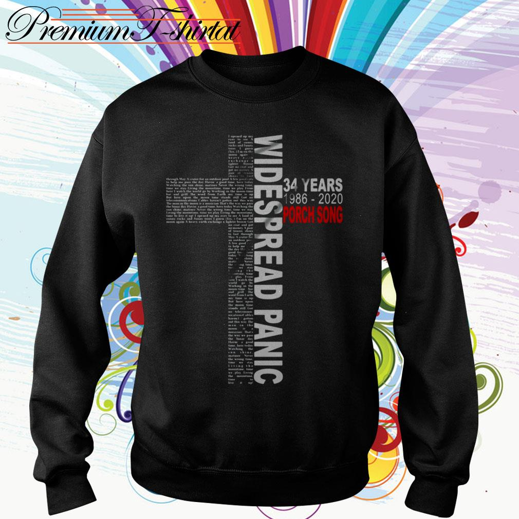 Cross Widespread Panic 34 years 1986-2020 Porch Song Sweater