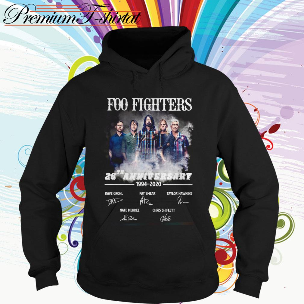 Foo Fighters 26th anniversary 1994 2020 signatures Hoodie