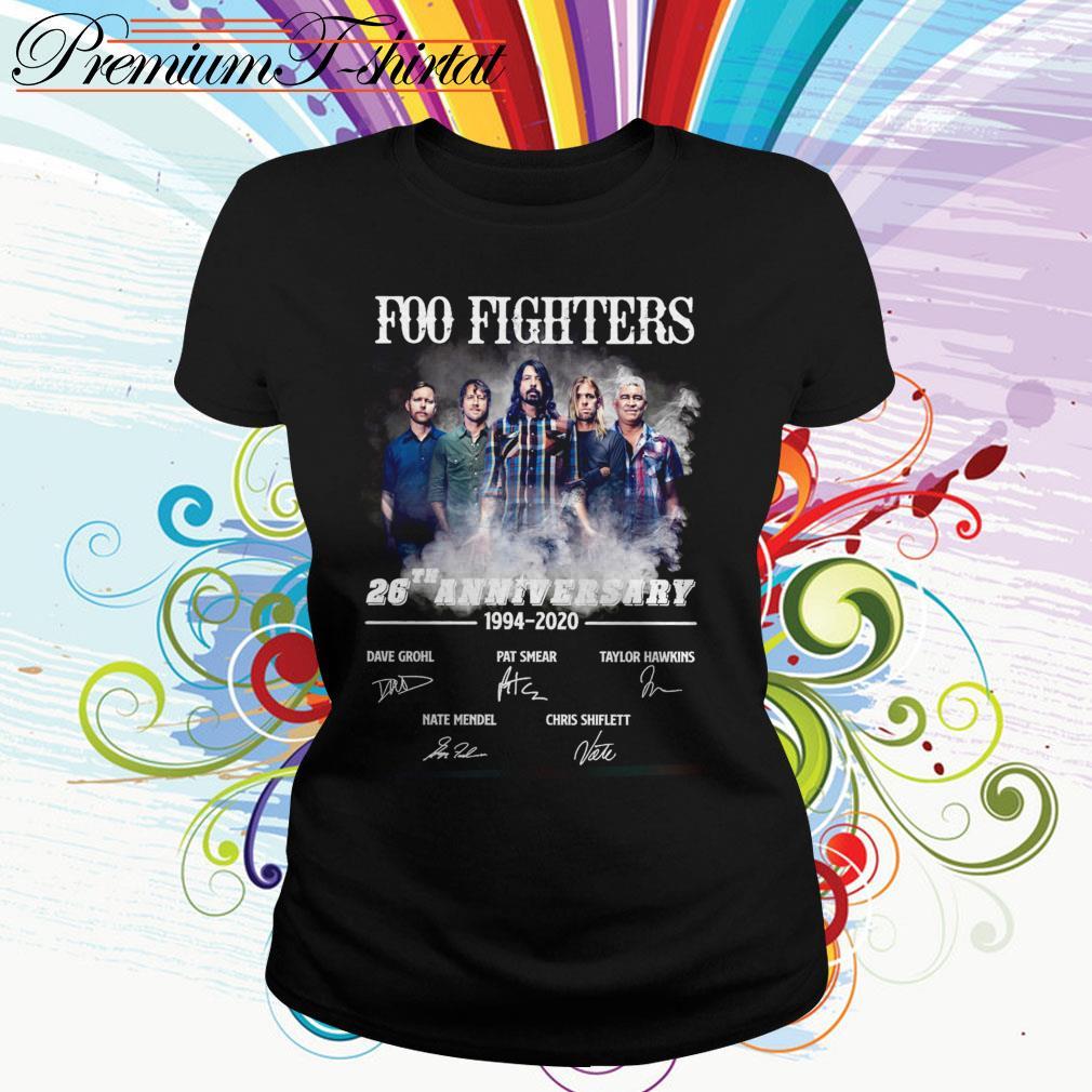 Foo Fighters 26th anniversary 1994 2020 signatures Ladies Tee