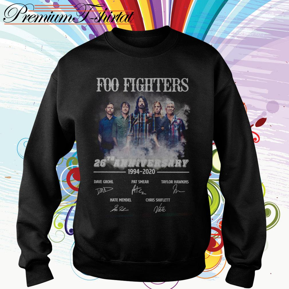 Foo Fighters 26th anniversary 1994 2020 signatures Sweater