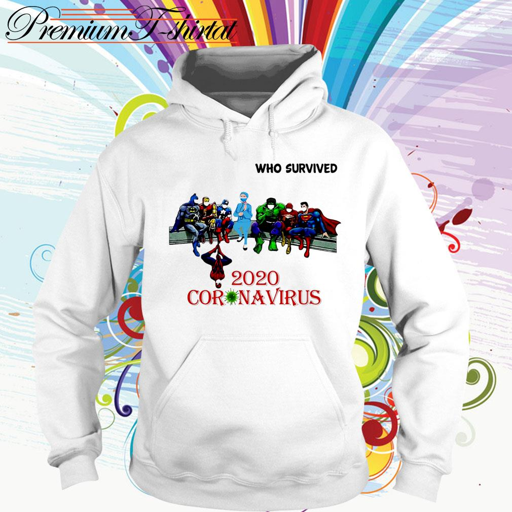 Heroes Marvel Character and doctor Who Survived 2020 Coronavirus Hoodie