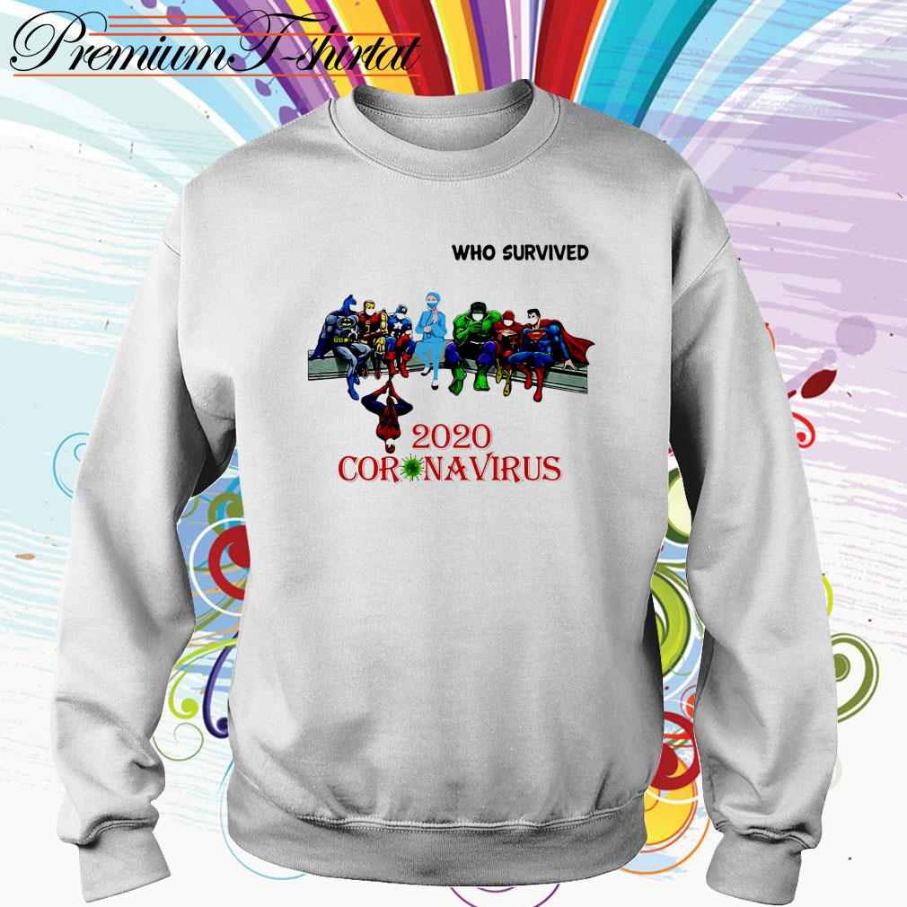 Heroes Marvel Character and doctor Who Survived 2020 Coronavirus Sweater