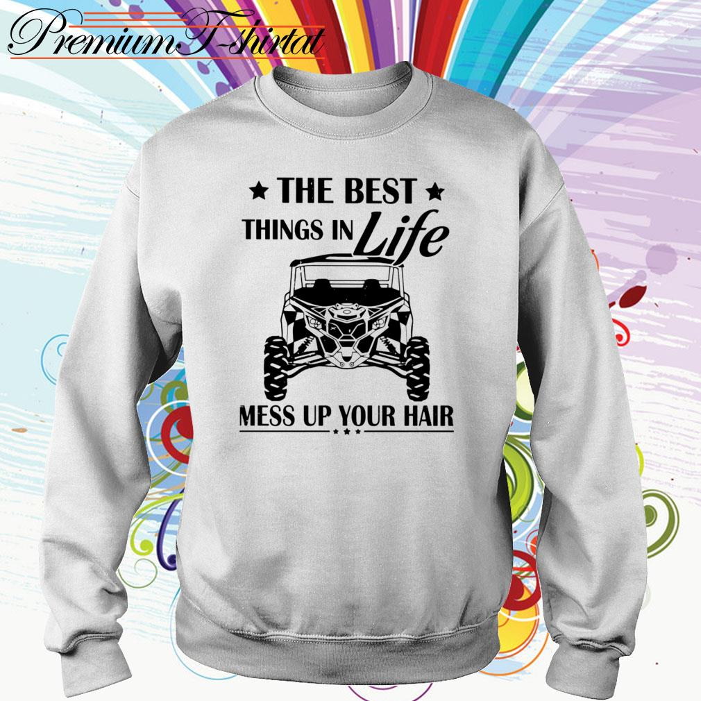 Jeep The best things in life mess up your hair Sweater