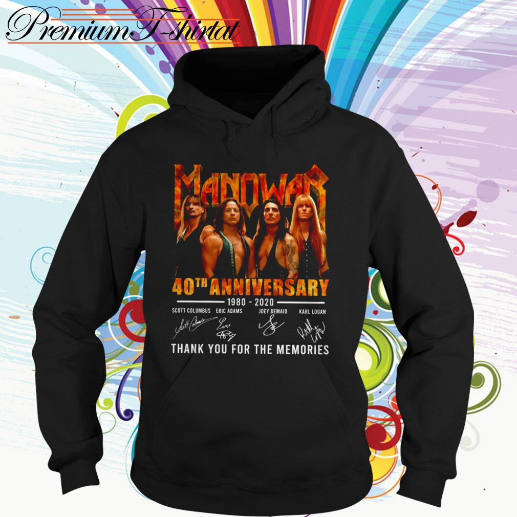 Manowar 40th anniversary 1980-2020 thank you for the memories signatures Hoodie