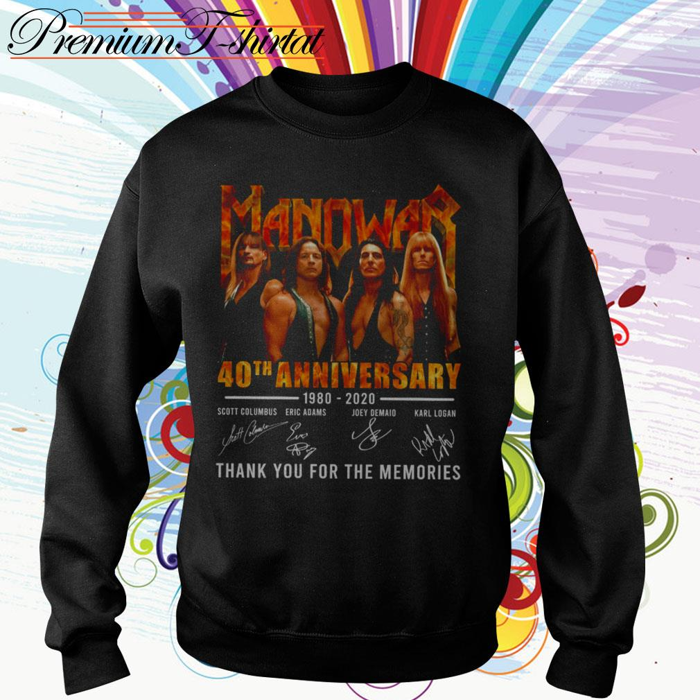 Manowar 40th anniversary 1980-2020 thank you for the memories signatures Sweater