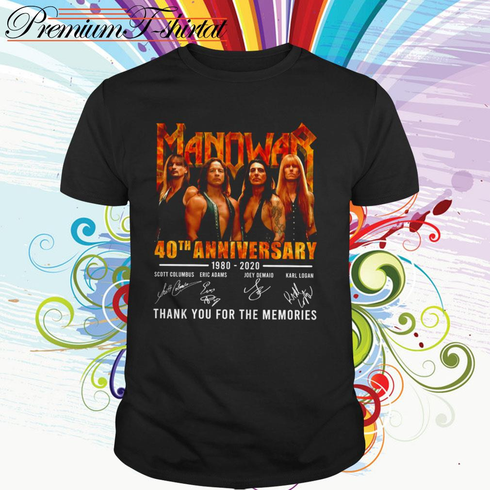 Manowar 40th anniversary 1980-2020 thank you for the memories signatures shirt