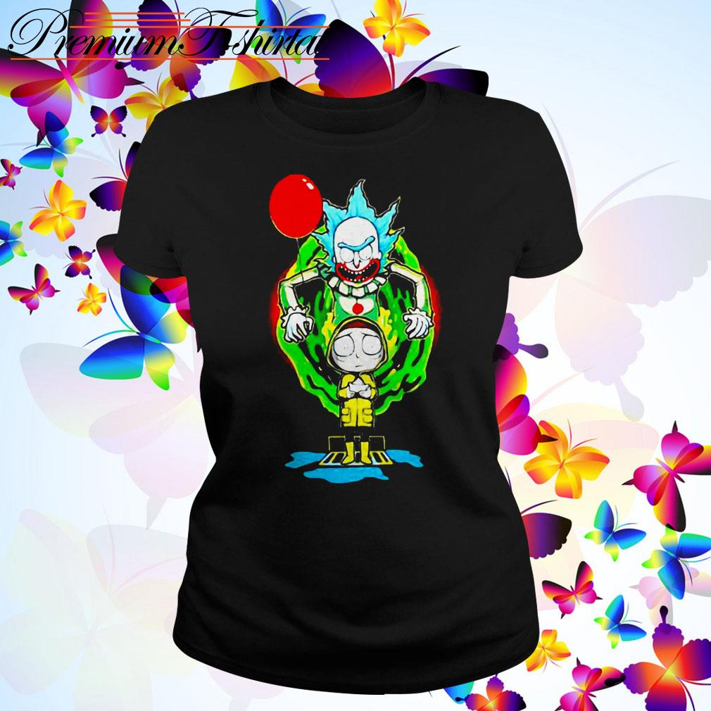 Pennywise IT Rick and Morty Halloween Ladies Tee