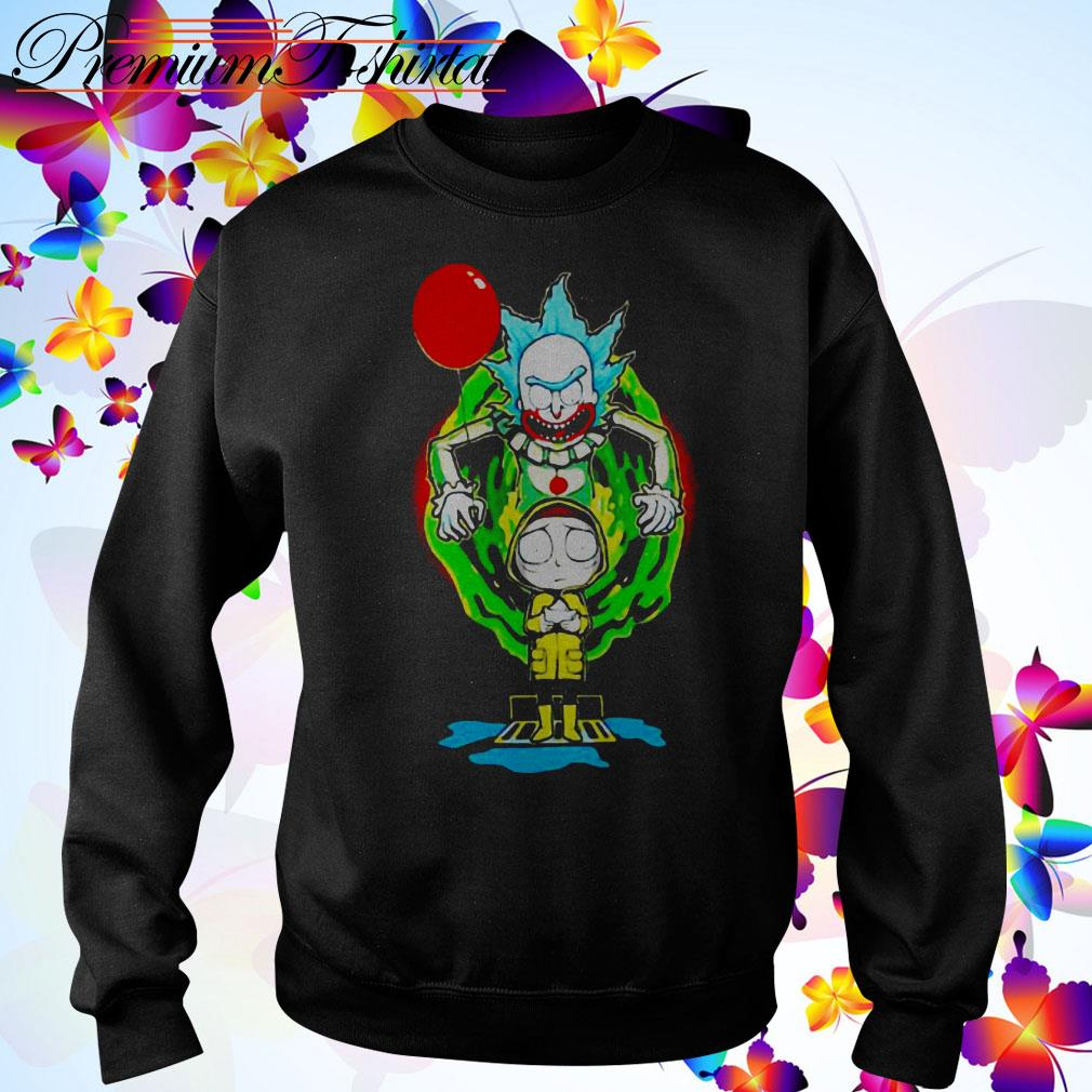 Pennywise IT Rick and Morty Halloween Sweater