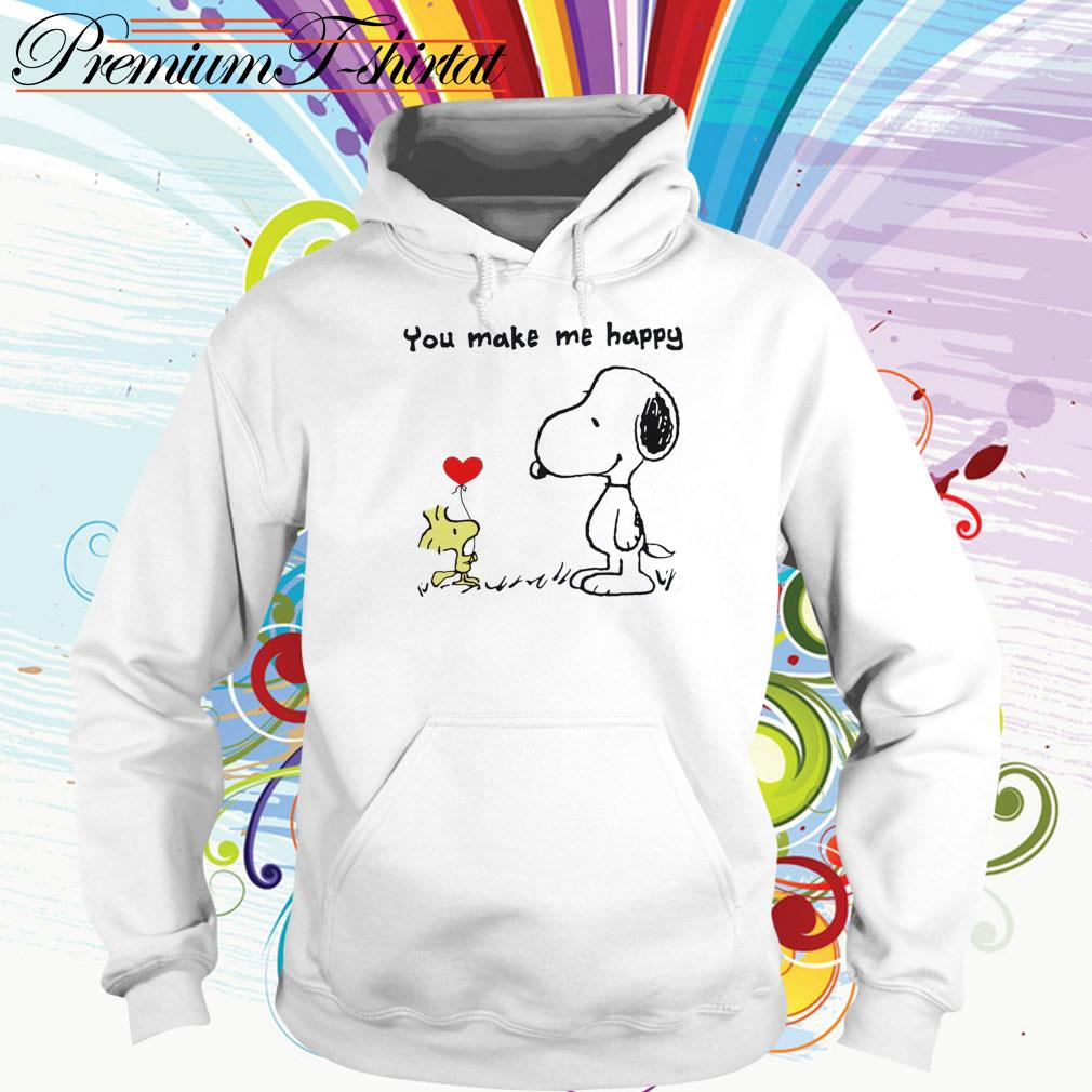 Snoopy and Woodstock you make me happy Hoodie