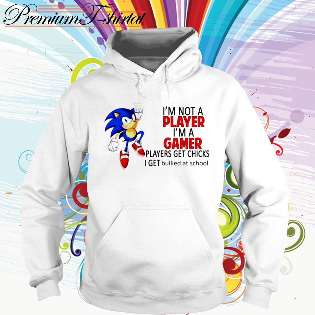 Sonic I'm not a player I'm a gamer players get chicks I get bullied at school Hoodie