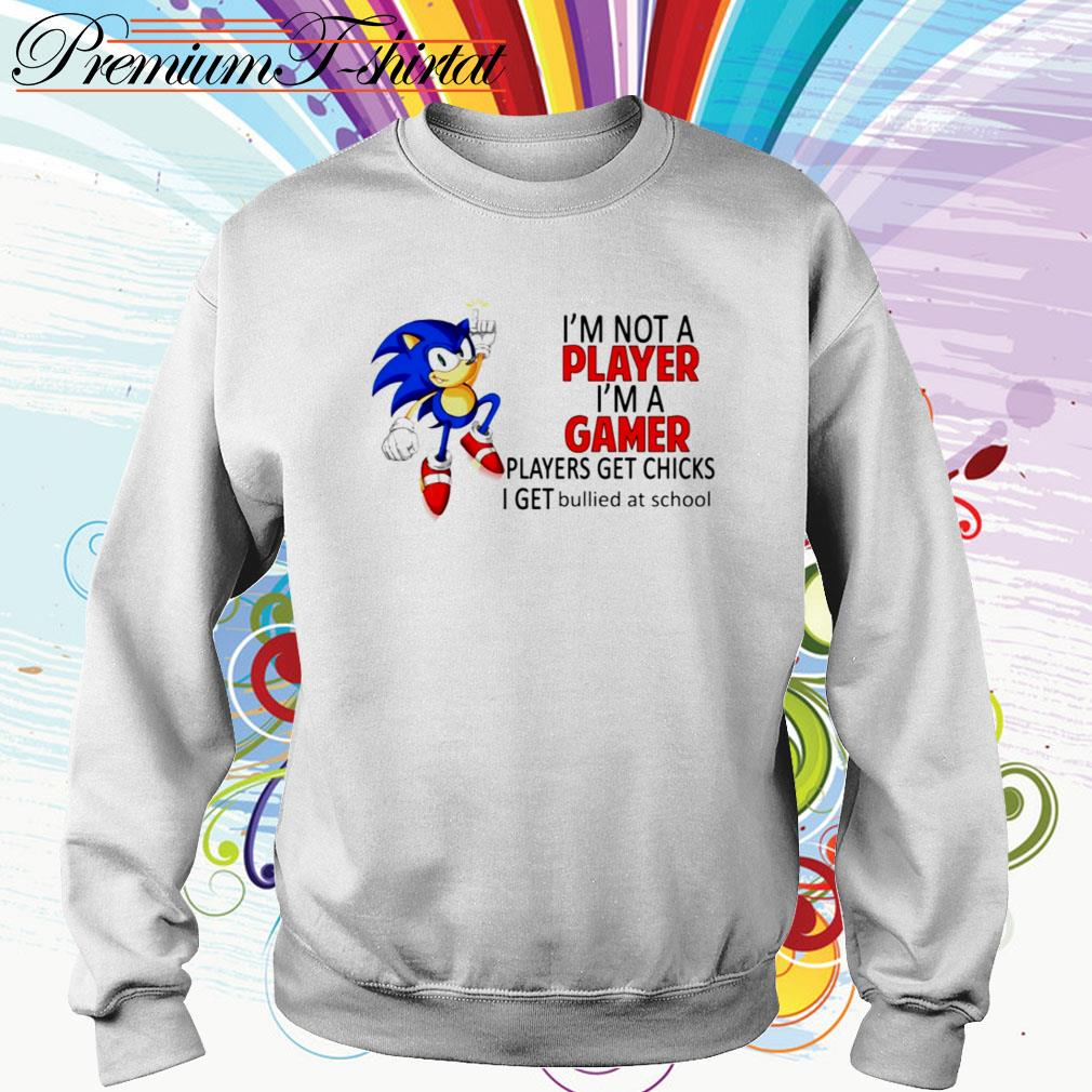 Sonic I'm not a player I'm a gamer players get chicks I get bullied at school Sweater