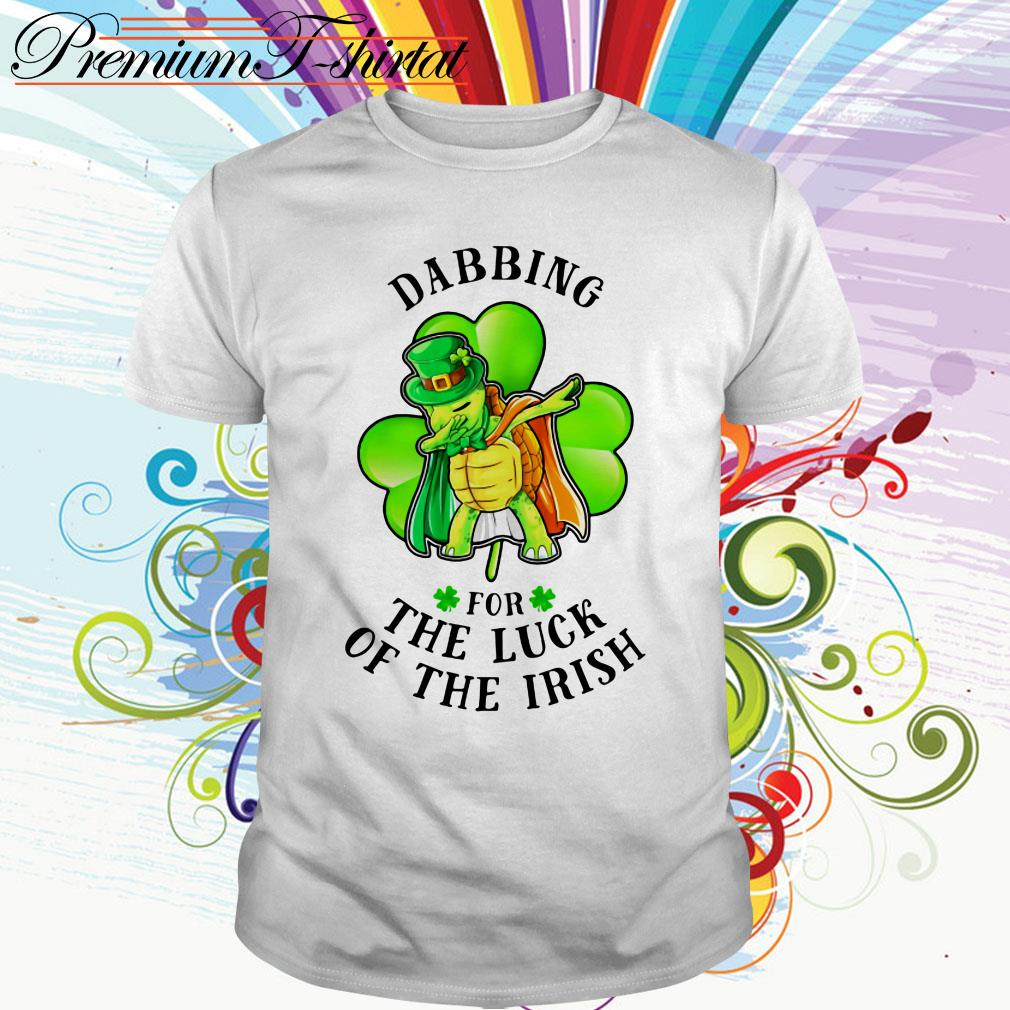 St Patrick's day turtle dabbing for the luck of the Irish shirt