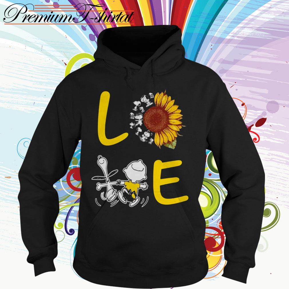 Sunflower Snoopy and Charlie Brown love Hoodie