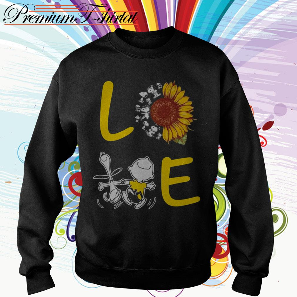 Sunflower Snoopy and Charlie Brown love Sweater