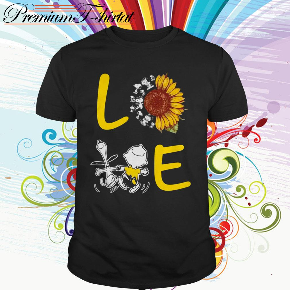 Sunflower Snoopy and Charlie Brown love shirt