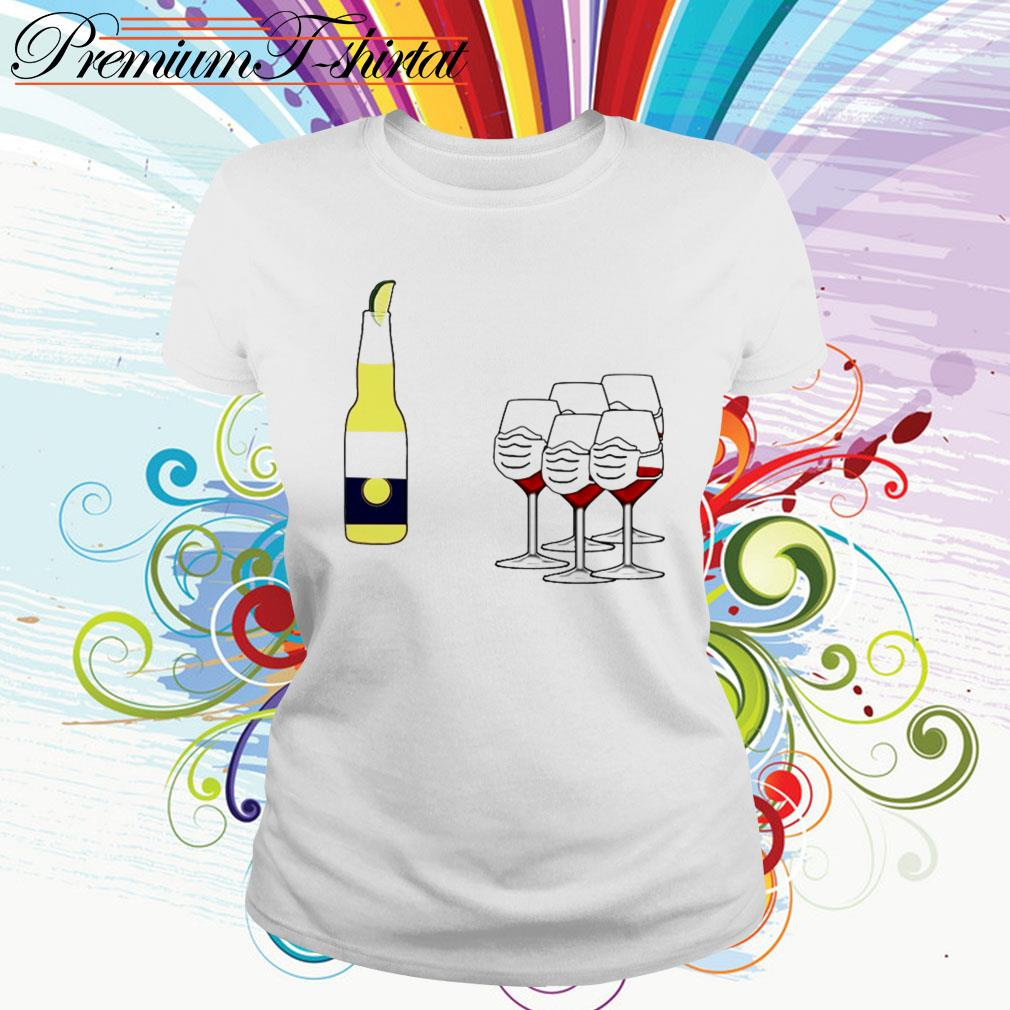 Wine and Corona Ladies Tee