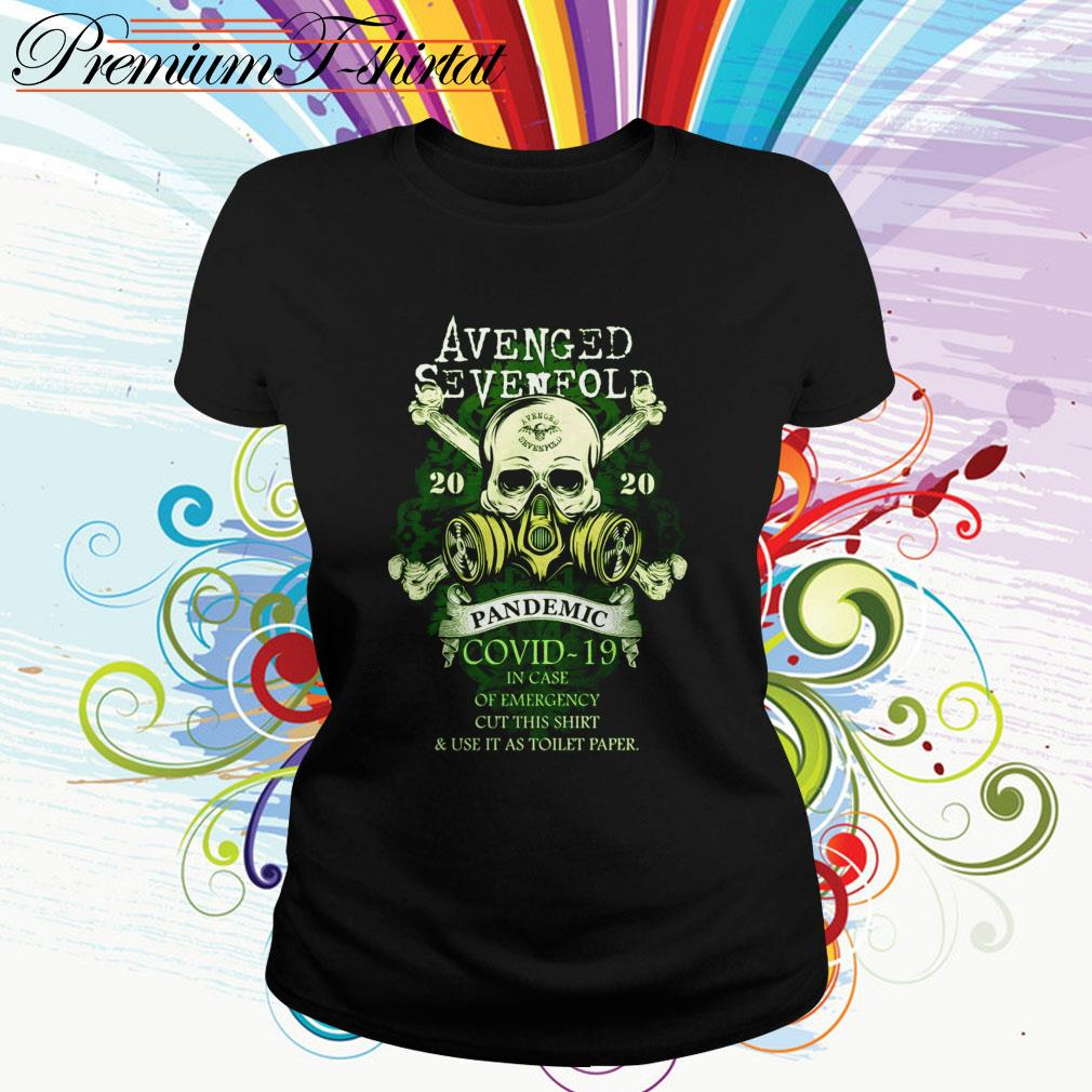 Avenged Sevenfold 2020 Pandemic Covid-19 in case of emergency cut this Ladies Tee