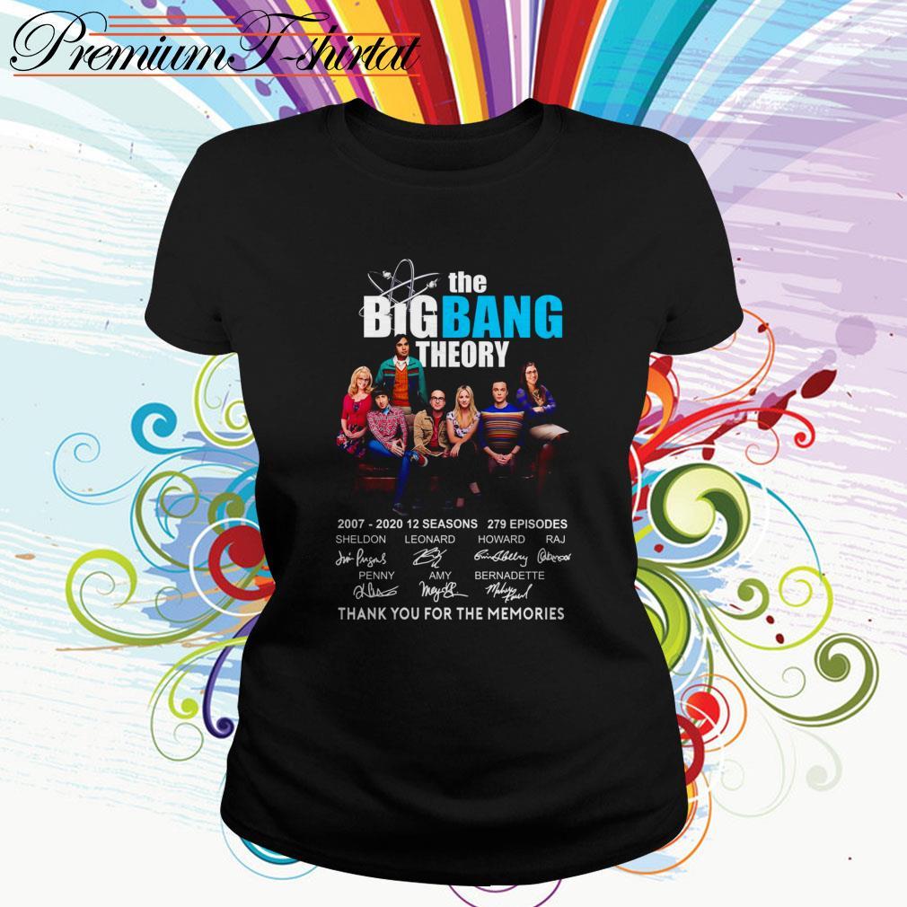 The Big Bang Theory 2007-2020 12 seasons thank you for the memories Ladies Tee
