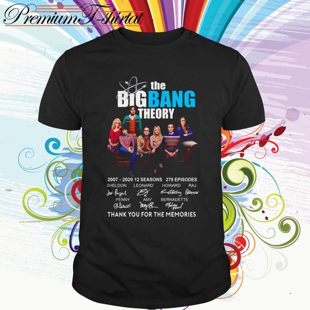 The Big Bang Theory 2007-2020 12 seasons thank you for the memories shirt