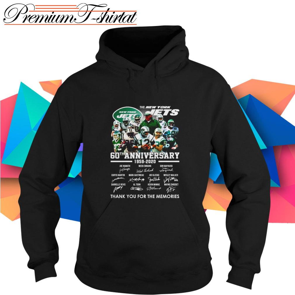 The New York Jets 60th Anniversary 1959-2020 thank you for the memories Hoodie