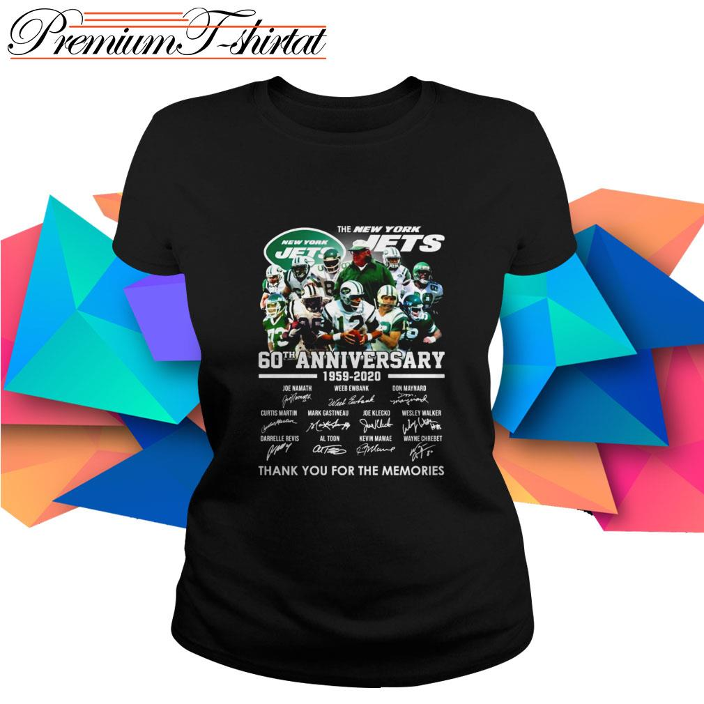 The New York Jets 60th Anniversary 1959-2020 thank you for the memories Ladies Tee