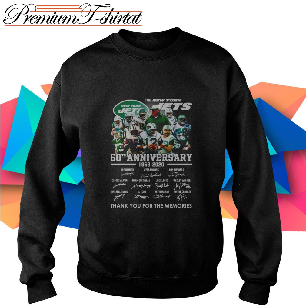 The New York Jets 60th Anniversary 1959-2020 thank you for the memories Sweater