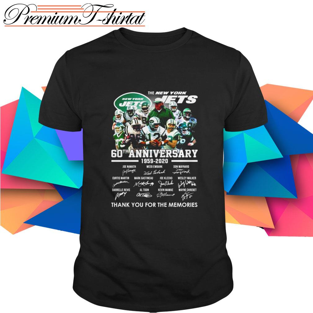 The New York Jets 60th Anniversary 1959-2020 thank you for the memories shirt