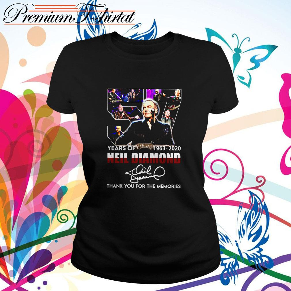 57 Years of Neil Diamond 1963-2020 thank you for the memories signature  Ladies Tee