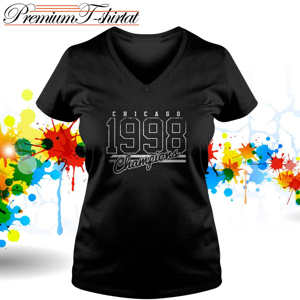 Chicago 1998 Champions V-neck T-shirt