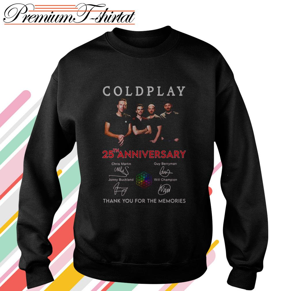 Coldplay 25th anniversary thank you for the memories Sweater