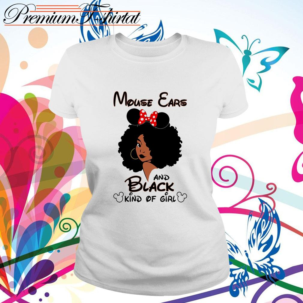 Mouse ears and black kind of girl Ladies Tee