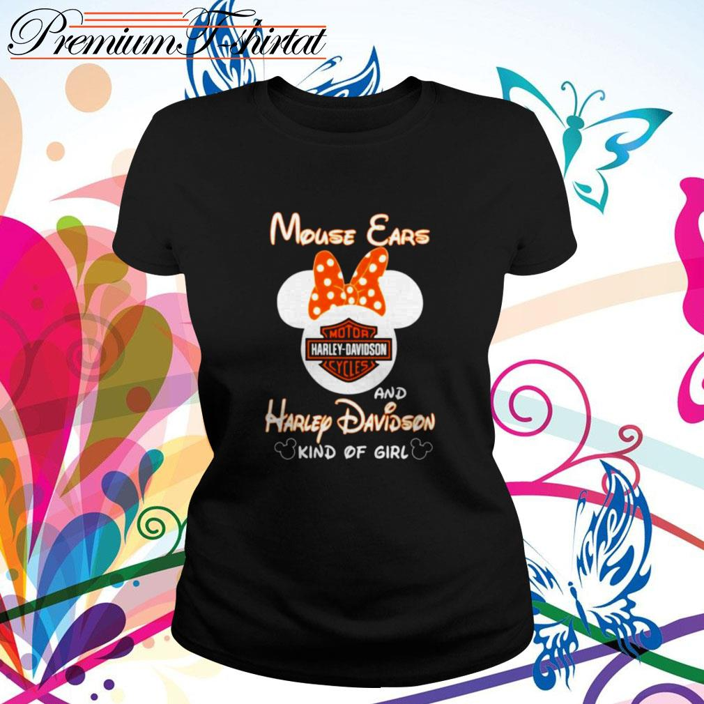 Mouse ears and Harley Davidson kind of girl Ladies Tee