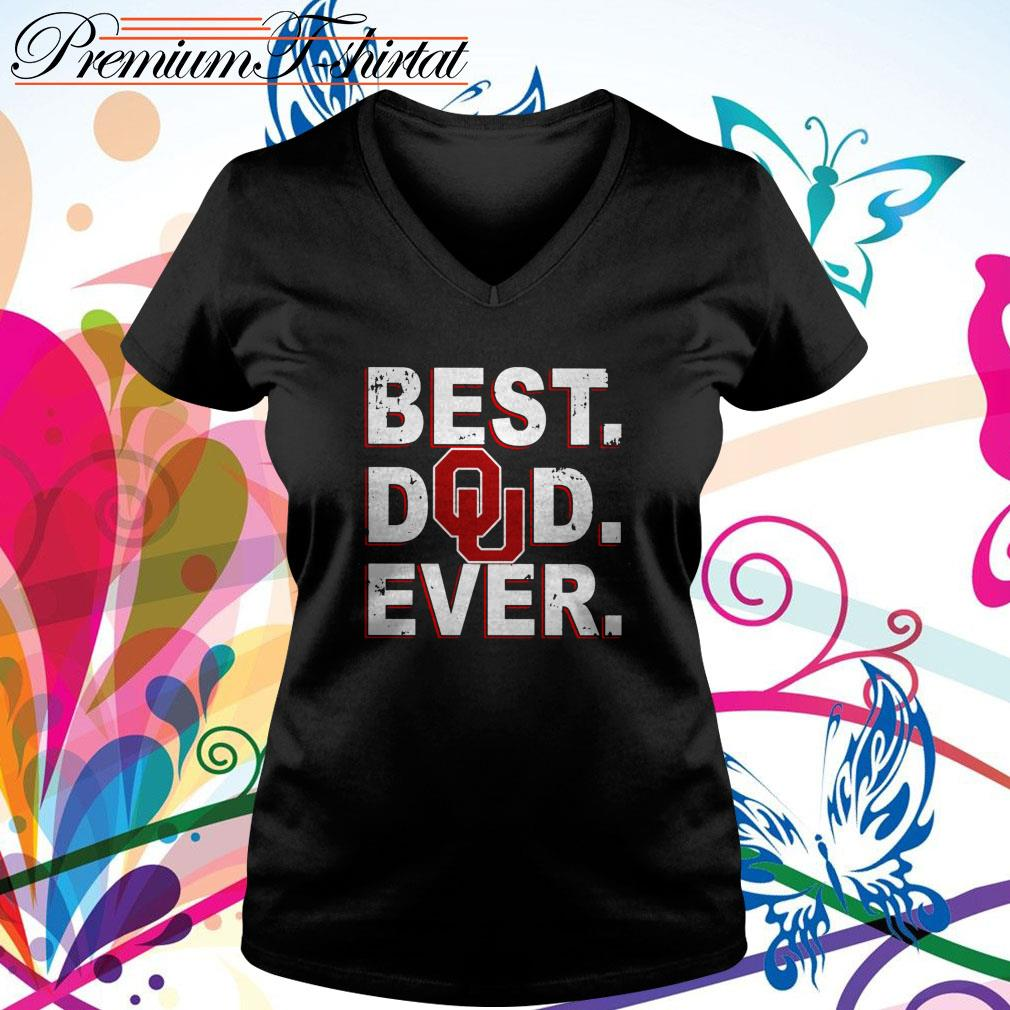 Oklahoma Sooners best dad ever V-neck T-shirt