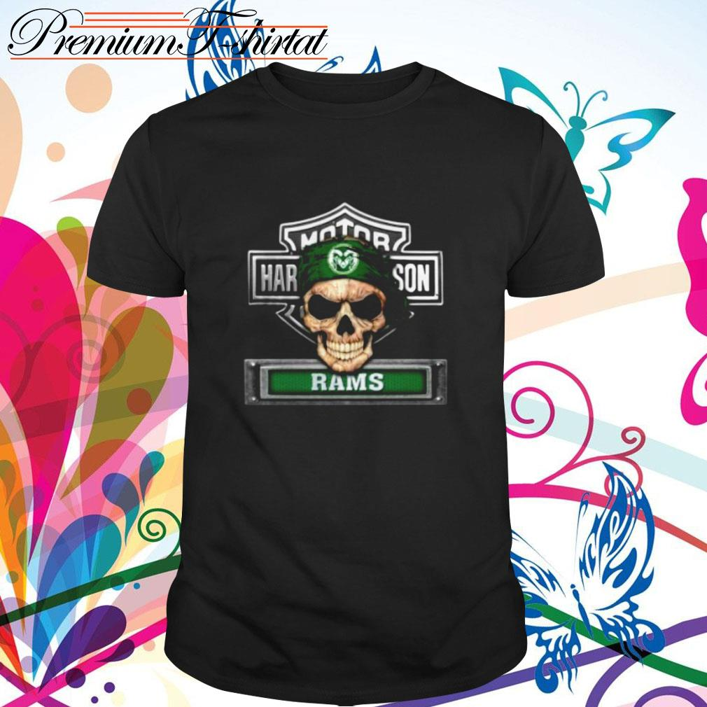 Skull Motor Harley-Davidson Colorado State Rams shirt