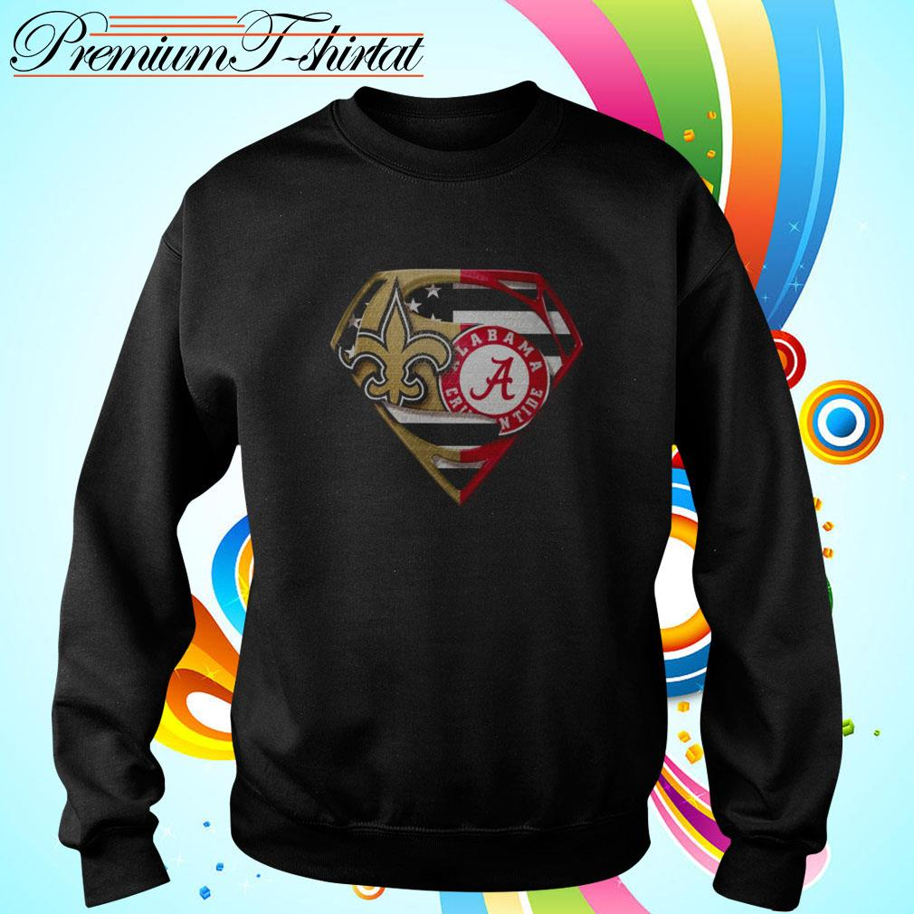Superman New Orleans Saints and Alabama Crimson Tide Sweater
