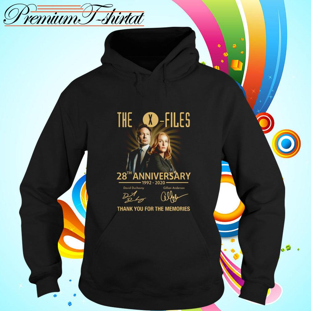 The X-Files 28th anniversary 1992-2020 thank you for the memories Hoodie