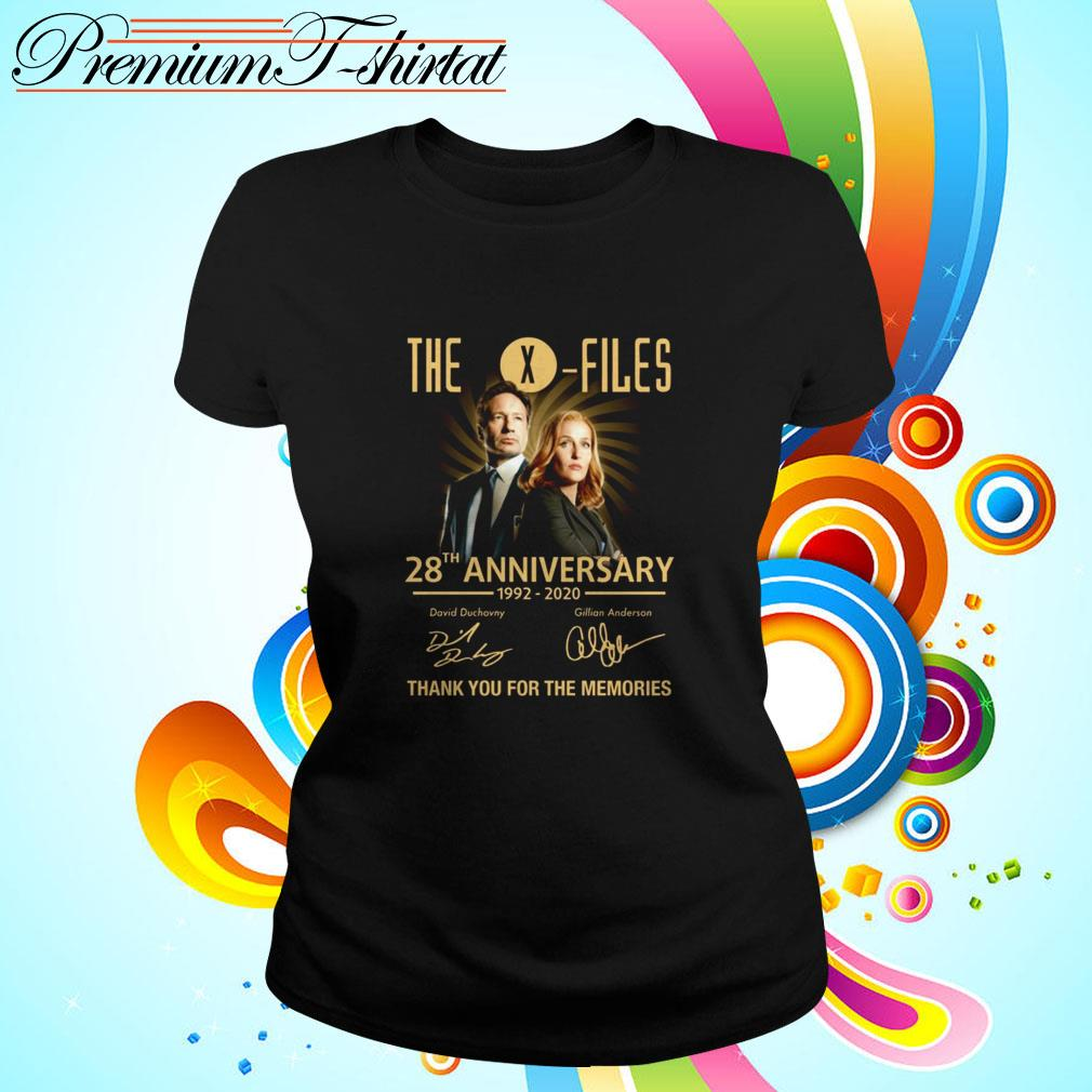 The X-Files 28th anniversary 1992-2020 thank you for the memories Ladies Tee