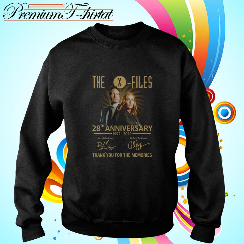 The X-Files 28th anniversary 1992-2020 thank you for the memories Sweater