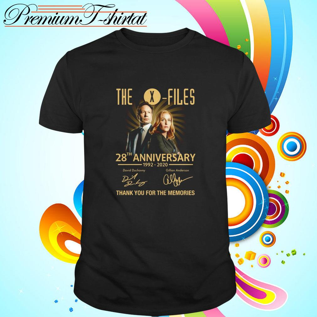 The X-Files 28th anniversary 1992-2020 thank you for the memories shirt