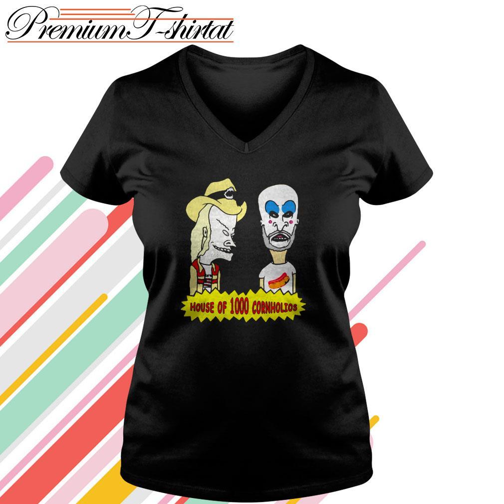 Beavis and Butt-Head house of 1000 Cornholios V-neck T-shirt