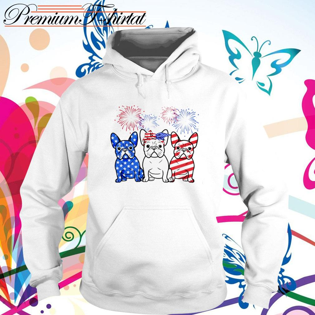 Firework Bulldogs red white blue 4th of July independence day Hoodie
