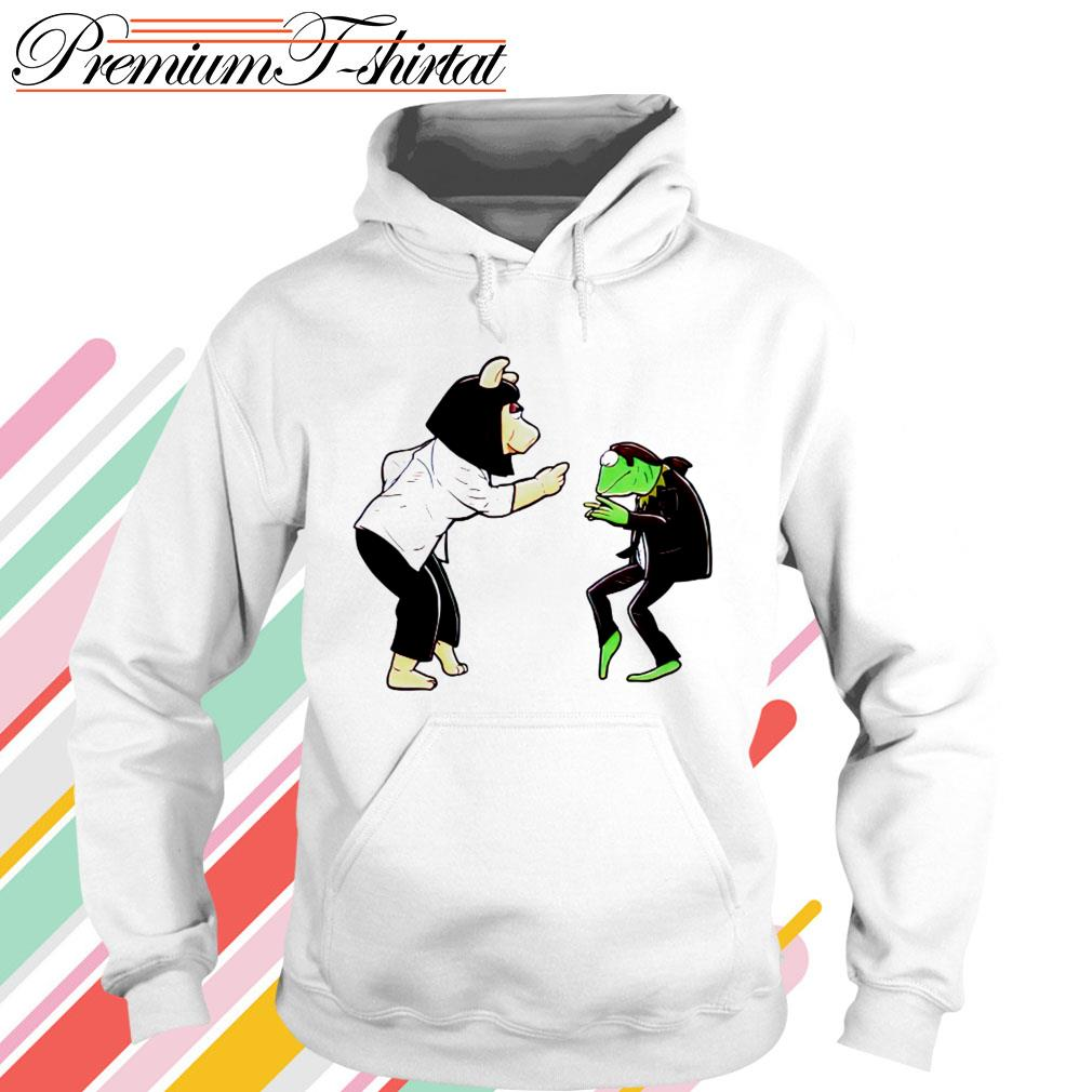 Frog Kermit and Miss Piggy Fiction Dance Hoodie