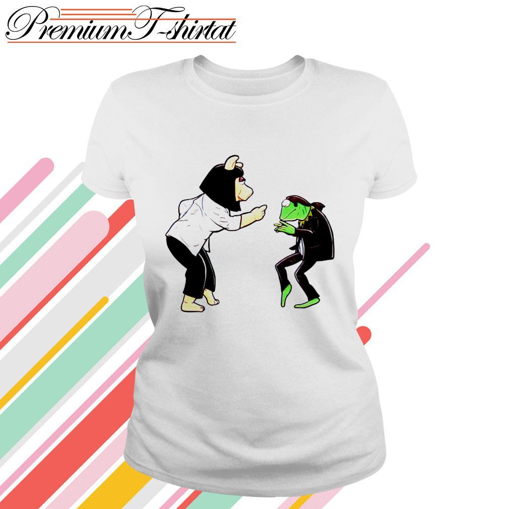Frog Kermit and Miss Piggy Fiction Dance Ladies Tee