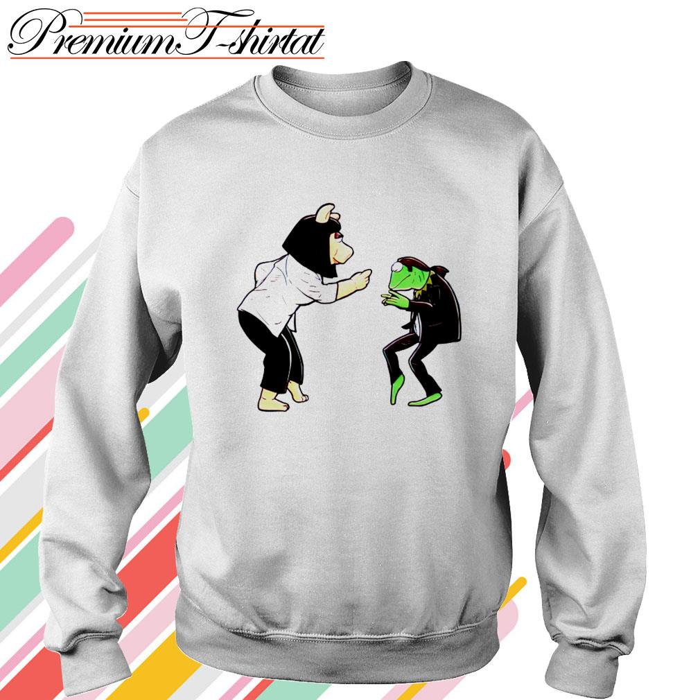 Frog Kermit and Miss Piggy Fiction Dance Sweater