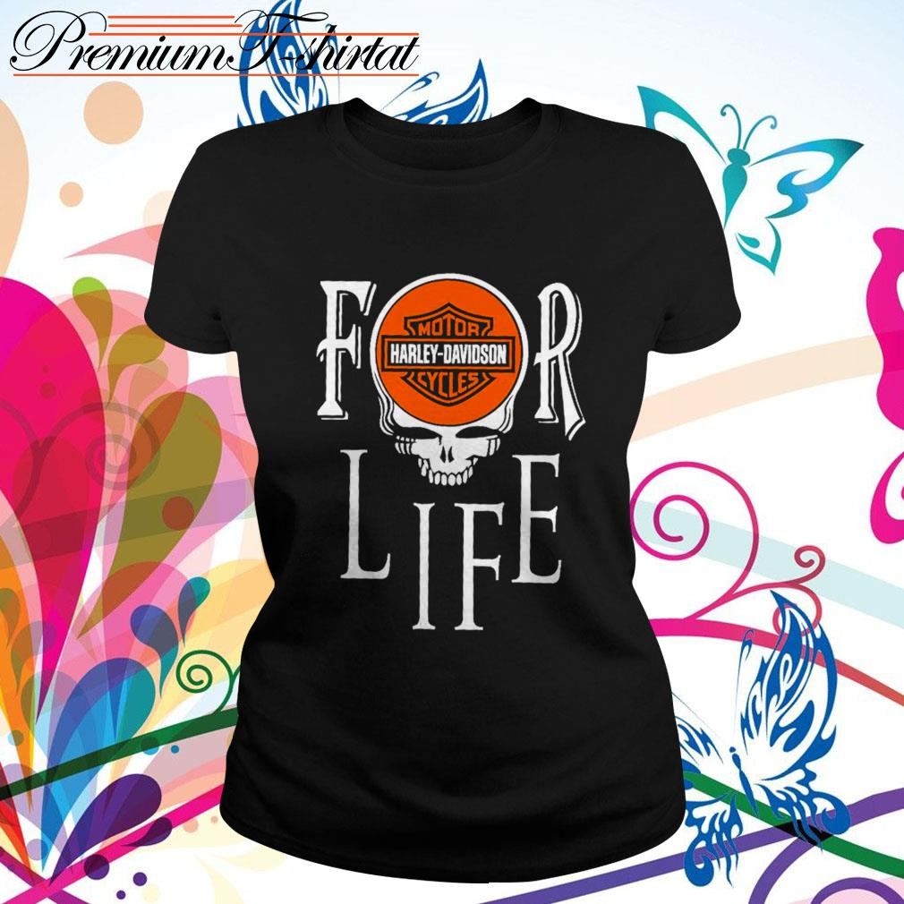 For Life Motor Harley-Davidson Cycles Ladies Tee