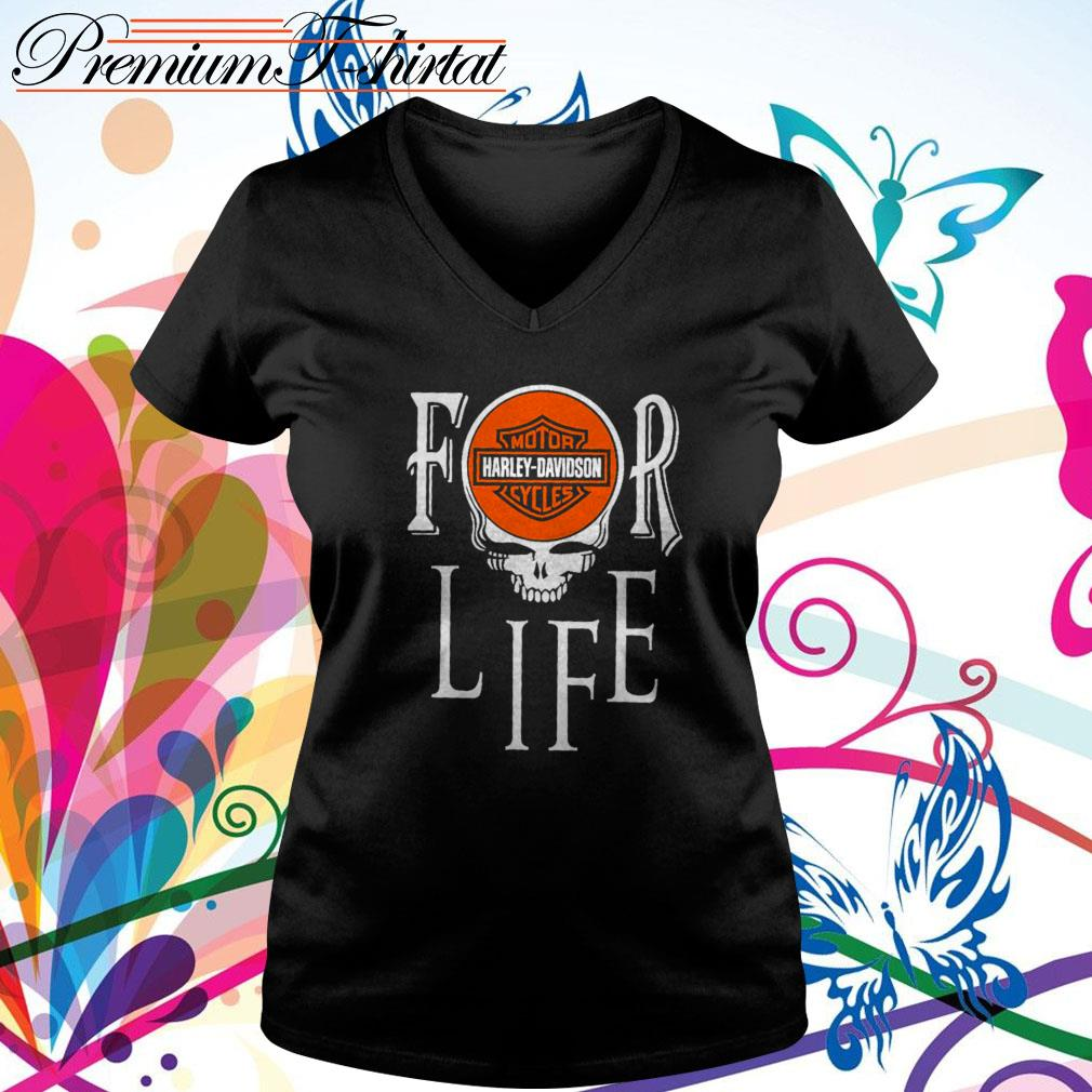 For Life Motor Harley-Davidson Cycles V-neck T-shirt